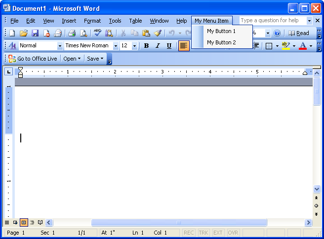 Office Live Add-in and Word 2003 – how to make them coexist?