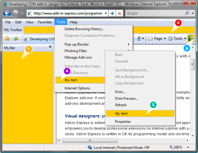 Add-in Express for Internet Explorer