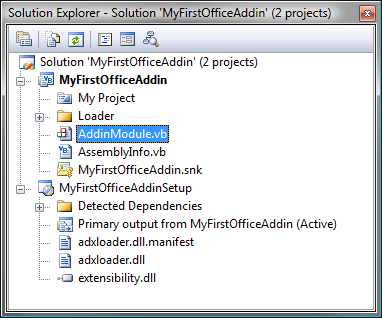 A sample Add-in Express solution