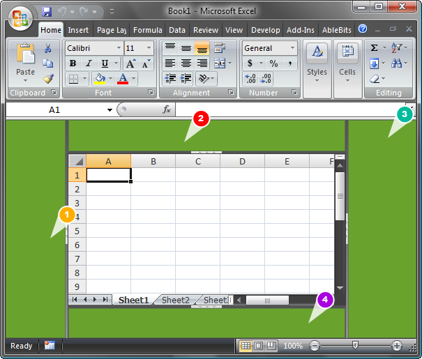Locations available for custom Excel task panes