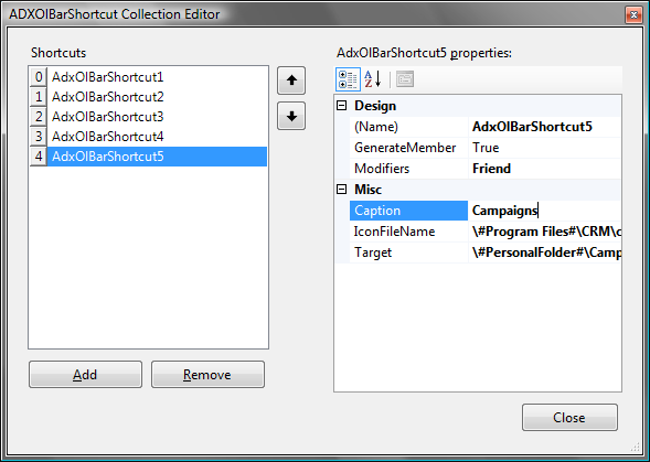 outlook 2007 template shortcut - customize outlook navigation pane reading pane in c vb