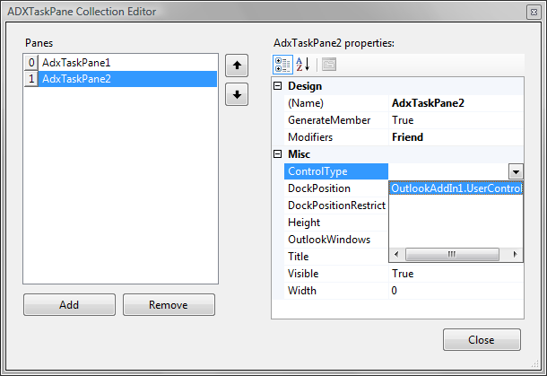 Create Custom Outlook Excel Task Panes Actions Pane In Vsto