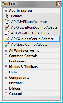 Adding host-specific control adapter