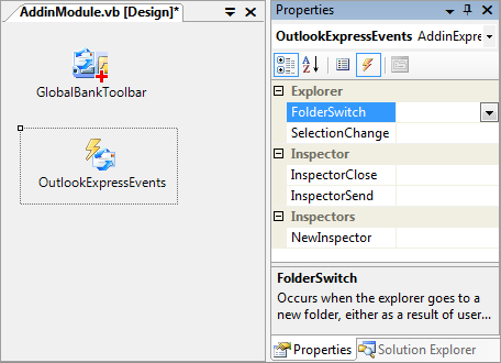 Outlook Express events