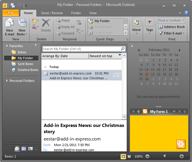 Customizing Outlook To-Do bar, Reading and Navaigation pane