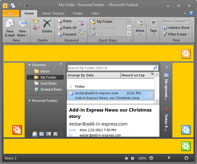 Customize Outlook 2019, 2016, 2013, 2010 views with any  NET forms