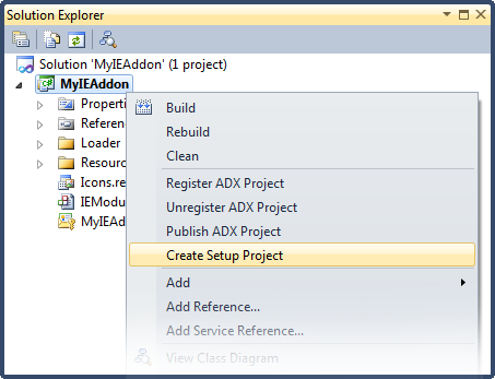 Creating a setup project for your IE add-on
