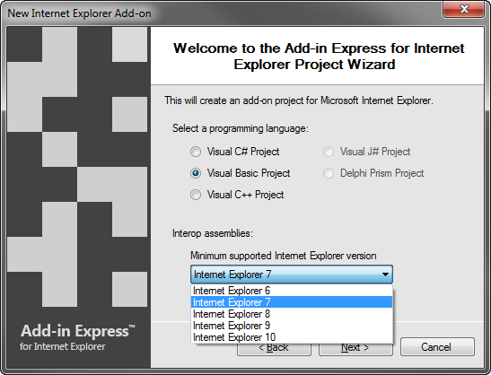 Create Internet Explorer Add On Ie Toolbar Context Menu C Vb
