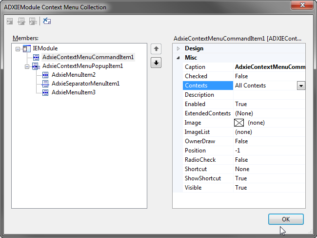 Creating a custom IE context menu item