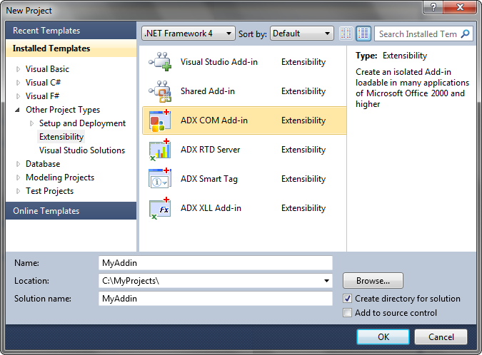 Create Office add-in /plugin in Visual Studio: VB NET, C++, C#