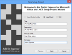 In Visual Studio 2012, Add-in Express generates setup projects based on InstallShield or WiX