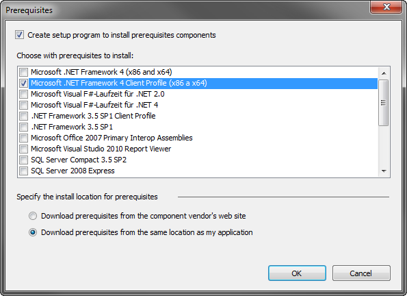 IE add-on prerequisites