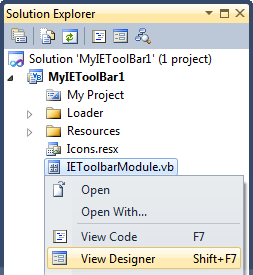 Solution Explorer - View Designer