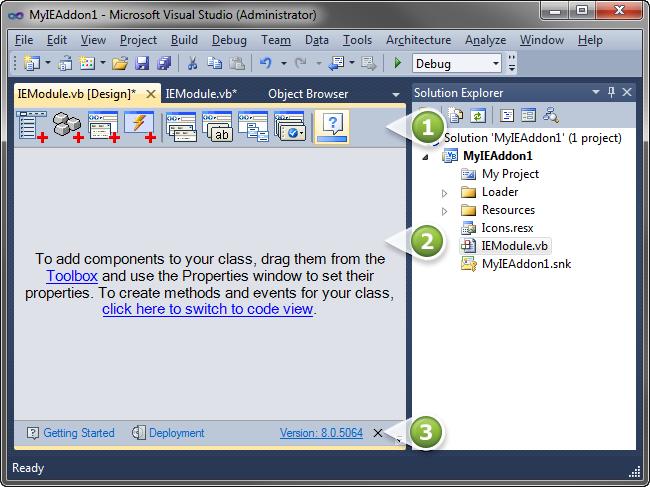 Internet Explorer add-on development (IE6 - IE11) with C#