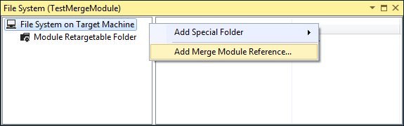 Adding a merge module reference