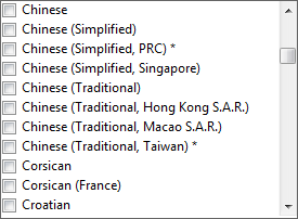 Languages supported and non-supported by default.