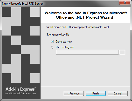 Creating a new Excel RTD server - using strong names