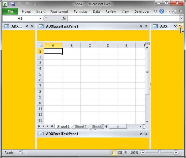 Advanced task panes in Excel 2010