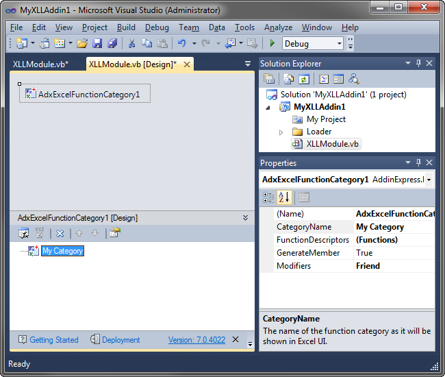 Develop Excel XLL add-in and UDF in C#, VB NET, C++