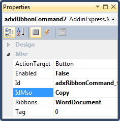 Disabling the Copy command in Word 2007 and above