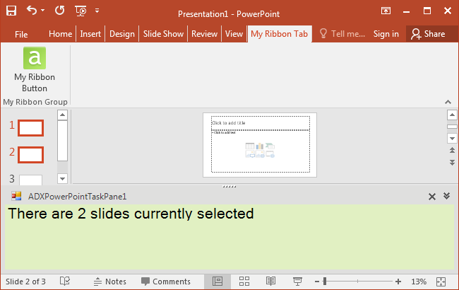 COM add-in in PowerPoint