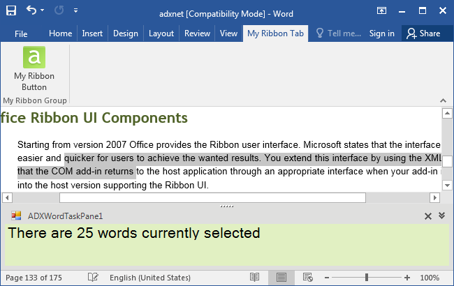 COM add-in in Word