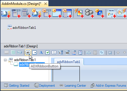 Creating a Ribbon button on a Ribbon group