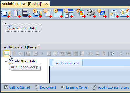 Adding a Ribbon group to a Ribbon tab