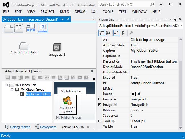 Ribbon Designer for SharePoint screenshot