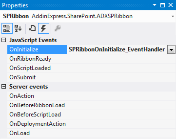 Add an event handler to the OnInitialize event of the button.