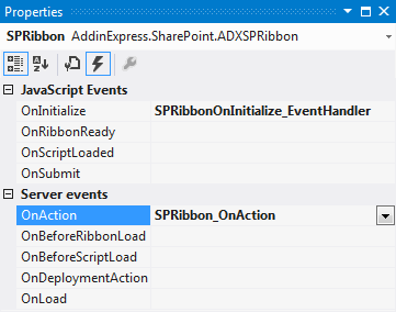 Adding an event handler to the OnAction event of the Ribbon Designer
