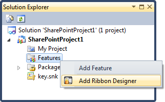 Adding a Ribbon Designer feature