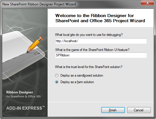 SharePoint project wizard