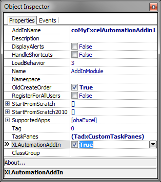 Adding Excel Automation add-in functionality