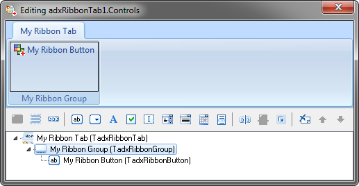 Ribbon tab visual designer