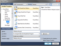 Creating a new SharePoint project