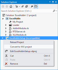 Converting a Visual Studio setup project to WiX in Visual Studio 2012