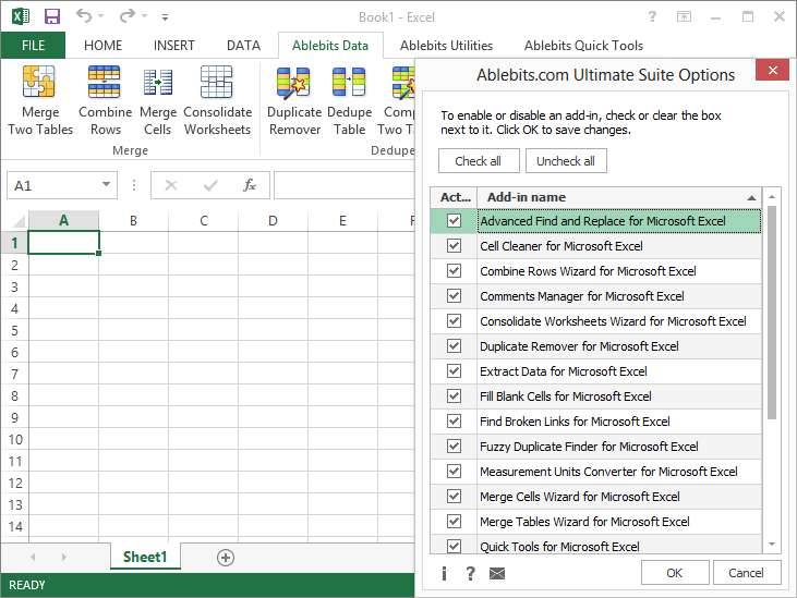AbleBits.com Ultimate Suite for Excel